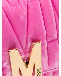 Moschino Pink 'Monogoram' Schultertasche