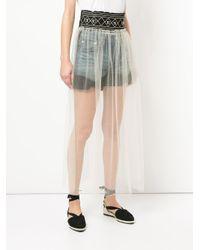 Tu Es Mon Tresor Multicolor Glitter Belt Apron Maxi Skirt