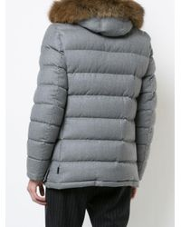 Moncler Gray Fur Trim Rethel Jacket for men