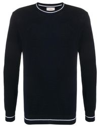 Altea Blue Textured Knit Jumper for men