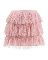 RED Valentino Pink Minirock aus Tüll