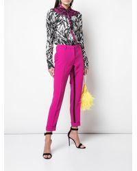 N°21 ストライプ スリムパンツ Pink