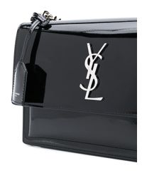 Saint Laurent Black Medium Sunset Shoulder Bag