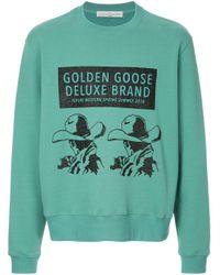 メンズ Golden Goose Deluxe Brand プリントスウェットシャツ Green