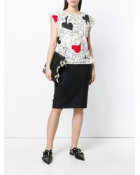 Vivienne Westwood Anglomania Multicolor Heart Print T-shirt