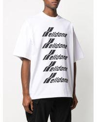 we11done オーバーサイズ ロゴ Tシャツ White