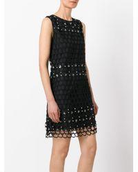 Class Roberto Cavalli | Black Net Detail Dress | Lyst