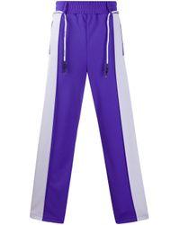 メンズ Palm Angels トラックパンツ Purple