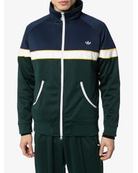メンズ Adidas カラーブロック トラックジャケット Blue