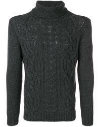 Tagliatore Gray Turtleneck Sweater for men