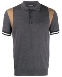メンズ DSquared² コントラストトリム ポロシャツ Multicolor