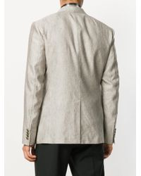 Dolce & Gabbana - Gray Contrast Stitched Blazer for Men - Lyst