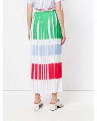 Vivetta White Pleated Panel Maxi Skirt