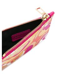 Emilio Pucci Pink Abstract Print Zipped Purse