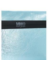 MM6 by Maison Martin Margiela Blue Laminated Clutch
