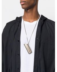 Ambush - Metallic Silver Lighter Case Pendant Necklace for Men - Lyst