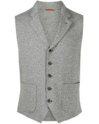 Barena Gray Mottled Twill Waistcoat for men