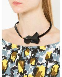 Marni - Black Embellished Necklace - Lyst