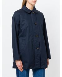 Woolrich Blue Shannon Raincoat