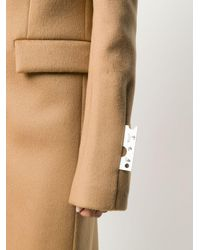 Off-White c/o Virgil Abloh Natural Single-breasted Wool Coat