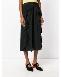 N°21 - Black Pleated Skirt - Lyst