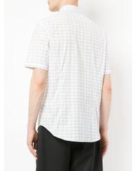 Cerruti 1881 - Gray Short Sleeve Striped Shirt for Men - Lyst