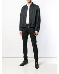 Roberto Cavalli Bomberjacke mit Logo-Patch in Black für Herren