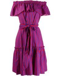 Vestito a righe di P.A.R.O.S.H. in Purple