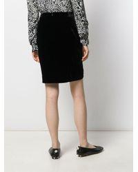 Veronica Beard Black Velvet Wrap Skirt