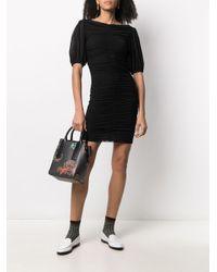 Ganni シャーリング ドレス Black