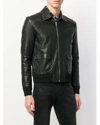 メンズ Saint Laurent ライダースジャケット Black