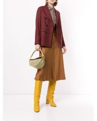 Loveless Brown A-line Midi Skirt