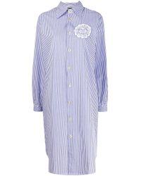 Vivienne Westwood Anglomania Blue Oversized Shirt Dress