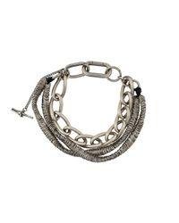 Bracelet multi-tours en maillons contrastants Goti pour homme en coloris Metallic