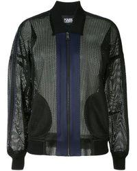 Karl Lagerfeld メッシュ ボンバージャケット Black