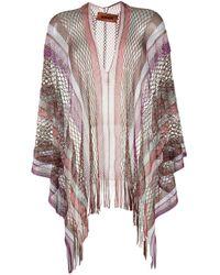 Missoni Pink Open-knit Poncho