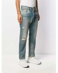 Loose fit denim jeans di Htc Los Angeles in Blue da Uomo
