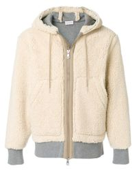 Moncler - Natural Giacca Shearling for Men - Lyst