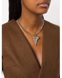 Givenchy | Multicolor Sabre Tooth Chain Necklace | Lyst