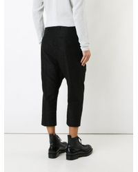Rick Owens Black Astaire Trousers for men