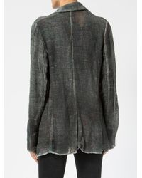 Avant Toi Black Shirt Style Cardigan