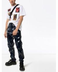 T-shirt à patch contrastant Raf Simons pour homme en coloris White