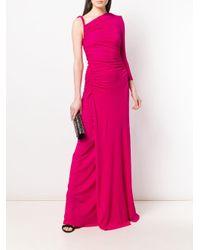 Robe longue asymétrique DSquared² en coloris Pink