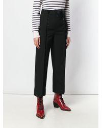 3.1 Phillip Lim Black Straight Leg Wool Trouser