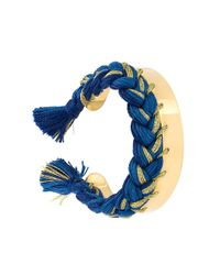 Aurelie Bidermann Blue Braided Cuff Bracelet