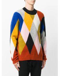 KENZO - Multicolor Argyle Jumper for Men - Lyst