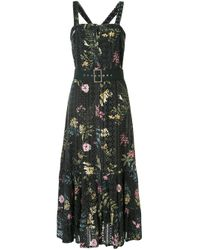 We Are Kindred Multicolor Floral Flared Midi Dress