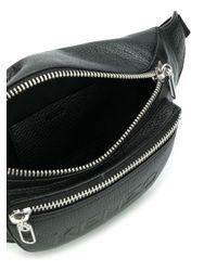 KENZO ロゴ ベルトバッグ Black