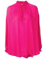 Blouse à détail de laçage IRO en coloris Pink