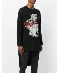 Yohji Yamamoto - Black Printed Top for Men - Lyst